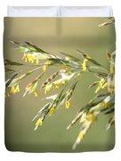 Flowering Brome Grass Duvet Cover