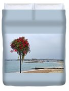 Flowers Along The Seafront Duvet Cover
