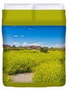 Flowers In The Badlands Duvet Cover