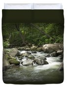 Flowing Stream In Vermont Duvet Cover