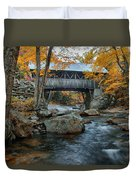 Flume Gorge Covered Bridge Duvet Cover
