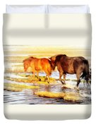 Our Whole Life We Just Follow The Stream  Duvet Cover