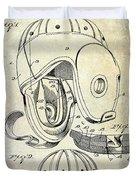 1927 Football Helmet Patent Duvet Cover