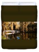Footbridge Over Swamp, Magnolia Duvet Cover