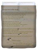 Footprints In The Sand Poem Duvet Cover