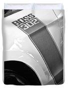 Ford Mustang Boss 302 Emblem Duvet Cover