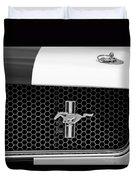Ford Mustang Gt 350 Grille Emblem Duvet Cover