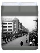 Ford Work Shift Change - Detroit 1916 Duvet Cover