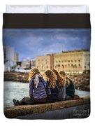 Foreign Students Cadiz Spain Duvet Cover