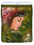 Forest Girl Duvet Cover