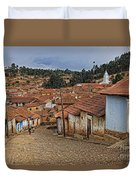 forgotten village Totora Duvet Cover