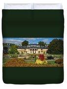 Formal Garden In Front Of A Castle Duvet Cover