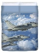 Formation Of Italian Air Force Amx-acol Duvet Cover