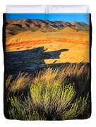 Fossil Beds And Grass Duvet Cover