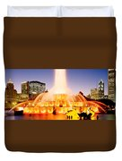 Fountain Lit Up At Dusk, Buckingham Duvet Cover