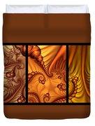 Fractal Triptychon Duvet Cover