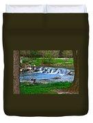 Framed Falls Duvet Cover