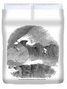 France Mont Blanc, 1851 Duvet Cover