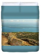 Frenchman's Bay From Cadillac Mountain Duvet Cover
