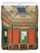 Fresco Decoration In The Summer House Duvet Cover