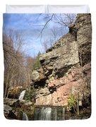 Fresh Water Streams Around Poconos Pa America Usa  Duvet Cover