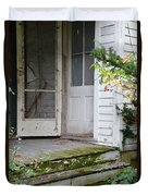 Front Door Of Abandoned House Duvet Cover