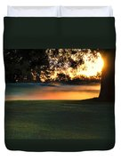 Frost On The West Course Duvet Cover