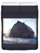Frosty Barn Duvet Cover