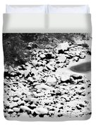 Frozen Riverbed In Winter Duvet Cover