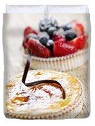 Fruit Tarts Duvet Cover by Elena Elisseeva