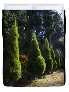 Funeral Cypress Trees Duvet Cover