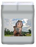 Funny Horse Duvet Cover