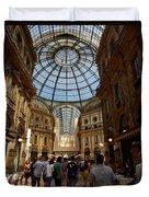 Galleria Vittorio Emanuele. Milano Milan Duvet Cover