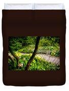 Garden Bench Duvet Cover