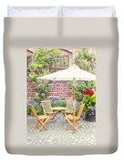 Garden Seating Area Duvet Cover