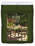 Garden Table Setting Duvet Cover
