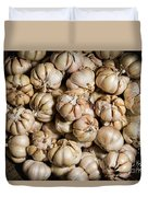 Garlic In A Basket. Duvet Cover