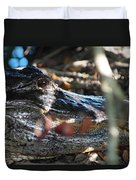 Gator In The Shade Duvet Cover