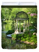 Gazebo By Lake Duvet Cover