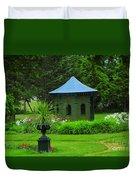 Gazebo In The Garden Duvet Cover