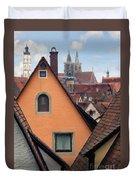 German Rooftops Impasto Duvet Cover