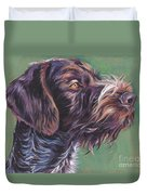 German Wirehaired Pointer Duvet Cover