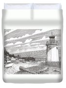 Lighthouse Gig Harbor Entrance Duvet Cover