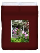 Gingerbread And Tree Peonies Duvet Cover