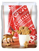 Gingerbread At Christmas Duvet Cover
