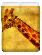 Giraffe Painting Duvet Cover by Dan Sproul