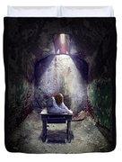 Girl In Abandoned Room Duvet Cover