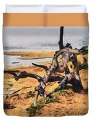 Gnarly Tree Duvet Cover by Barbara Snyder