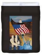 God Bless America Hand Embroidery Duvet Cover