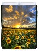 Golden Evening Duvet Cover by Debra and Dave Vanderlaan